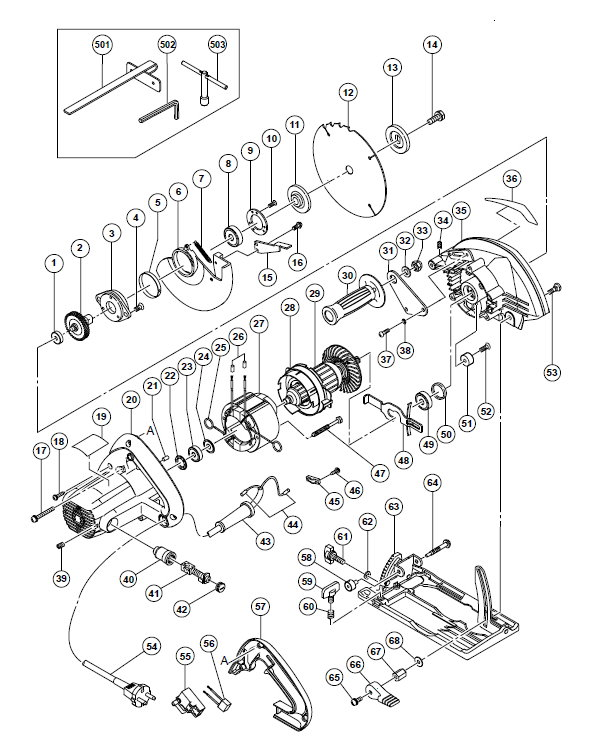 C6MFA Дисковая пила Hitachi